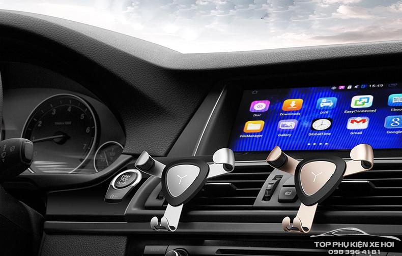 Giá đỡ tự động kẹp điện thoại gắn cửa gió ô tô   Phụ kiện xe hơi - Đồ chơi ô  tô chính hãng